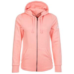 Essentials Solid Trainingskapuzenjacke Damen, rosa, zoom bei OUTFITTER Online