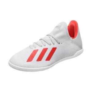 X 19.3 Indoor Fußballschuh Kinder, silber / rot, zoom bei OUTFITTER Online