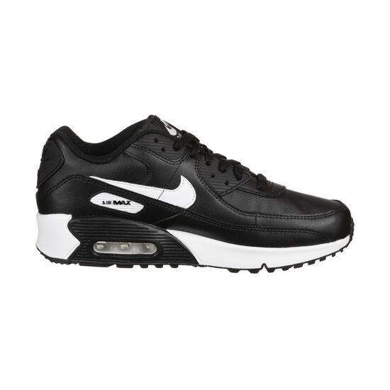 Air Max 90 Leather Sneaker Kinder, schwarz / weiß, zoom bei OUTFITTER Online
