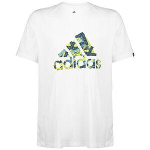 Branded Tape Logo T-Shirt Herren, weiß / grün, zoom bei OUTFITTER Online
