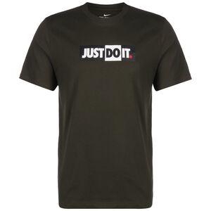 Just Do It Bumper T-Shirt Herren, graugrün / dunkelgrün, zoom bei OUTFITTER Online