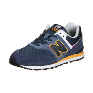 574 Sneaker Kinder, dunkelblau / orange, zoom bei OUTFITTER Online