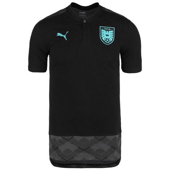 ÖFB Österreich Casuals Poloshirt EM 2021 Herren, schwarz / türkis, zoom bei OUTFITTER Online
