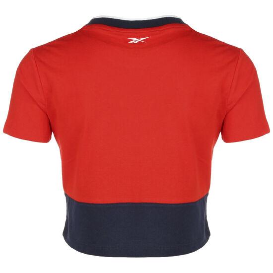 Essentials Linear Logo T-Shirt Damen, rot / dunkelblau, zoom bei OUTFITTER Online