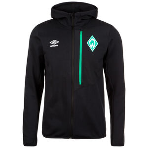 SV Werder Bremen Pro Fleece Kapuzenjacke Herren, Schwarz, zoom bei OUTFITTER Online