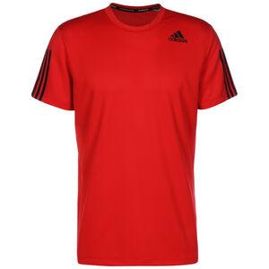 Primeblue AEROREADY 3-Streifen Trainingsshirt Herren, rot / schwarz, zoom bei OUTFITTER Online