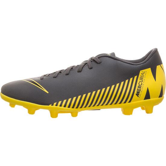 Mercurial Vapor XII Club MG Fußballschuh Herren, dunkelgrau / gelb, zoom bei OUTFITTER Online