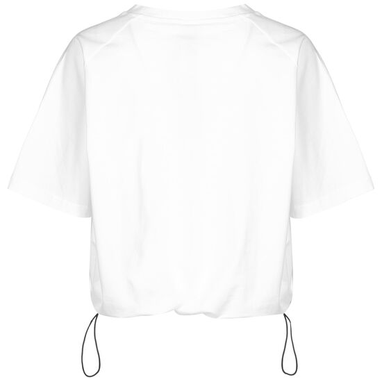 Loose Fit Logo Trainingsshirt Damen, weiß / schwarz, zoom bei OUTFITTER Online