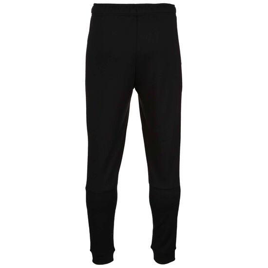 Taper Fleece Trainingshose Herren, schwarz / weiß, zoom bei OUTFITTER Online