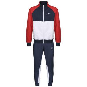 Sportswear CE Tracksuit Fleece Trainingsanzug Herren, dunkelblau / rot, zoom bei OUTFITTER Online