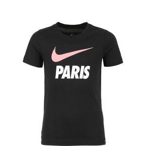 Paris St.-Germain Swoosh Club T-Shirt Kinder, schwarz / weiß, zoom bei OUTFITTER Online