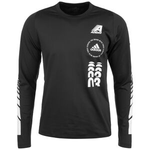 Moto Trainingsshirt Herren, schwarz / weiß, zoom bei OUTFITTER Online