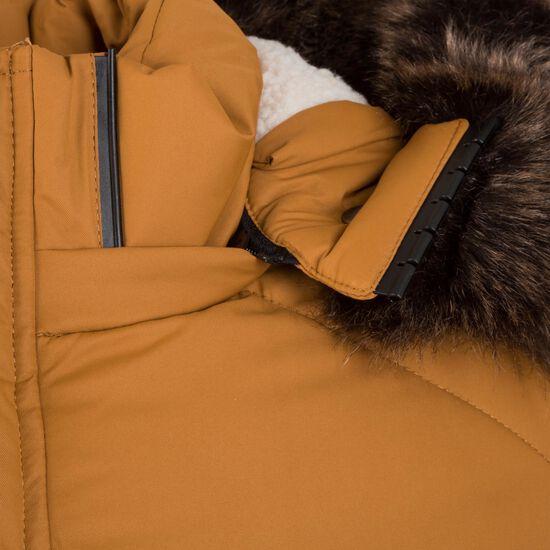 Faux Fur Hooded Winterjacke Herren, hellbraun, zoom bei OUTFITTER Online