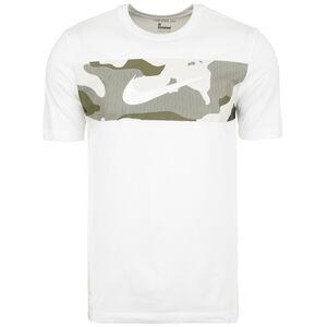 Dry Camo Trainingsshirt Herren, weiß / grau, zoom bei OUTFITTER Online