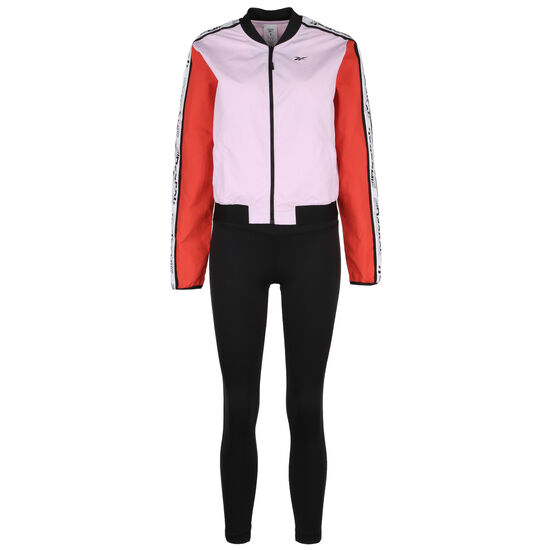 Training Essentials Meet You There Trainingsanzug Damen, rosa / schwarz, zoom bei OUTFITTER Online