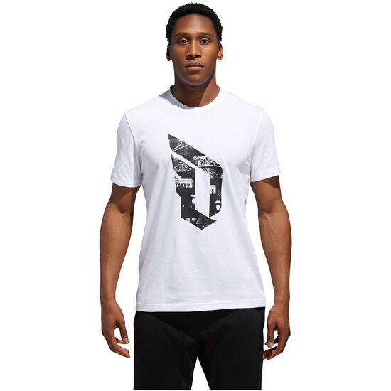 Dame Logo T-Shirt Herren, weiß / schwarz, zoom bei OUTFITTER Online