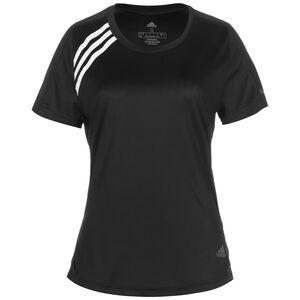 Run It 3-Stripes Laufshirt Damen, schwarz, zoom bei OUTFITTER Online