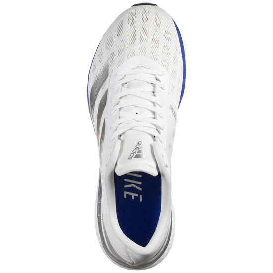 Adizero Boston 9 Laufschuh Herren, weiß / blau, zoom bei OUTFITTER Online