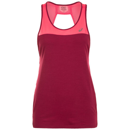 Loose Strappy Trainingstop Damen, weinrot / pink, zoom bei OUTFITTER Online
