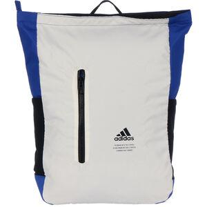 Classic Top-Zip Rucksack, weiß / blau, zoom bei OUTFITTER Online