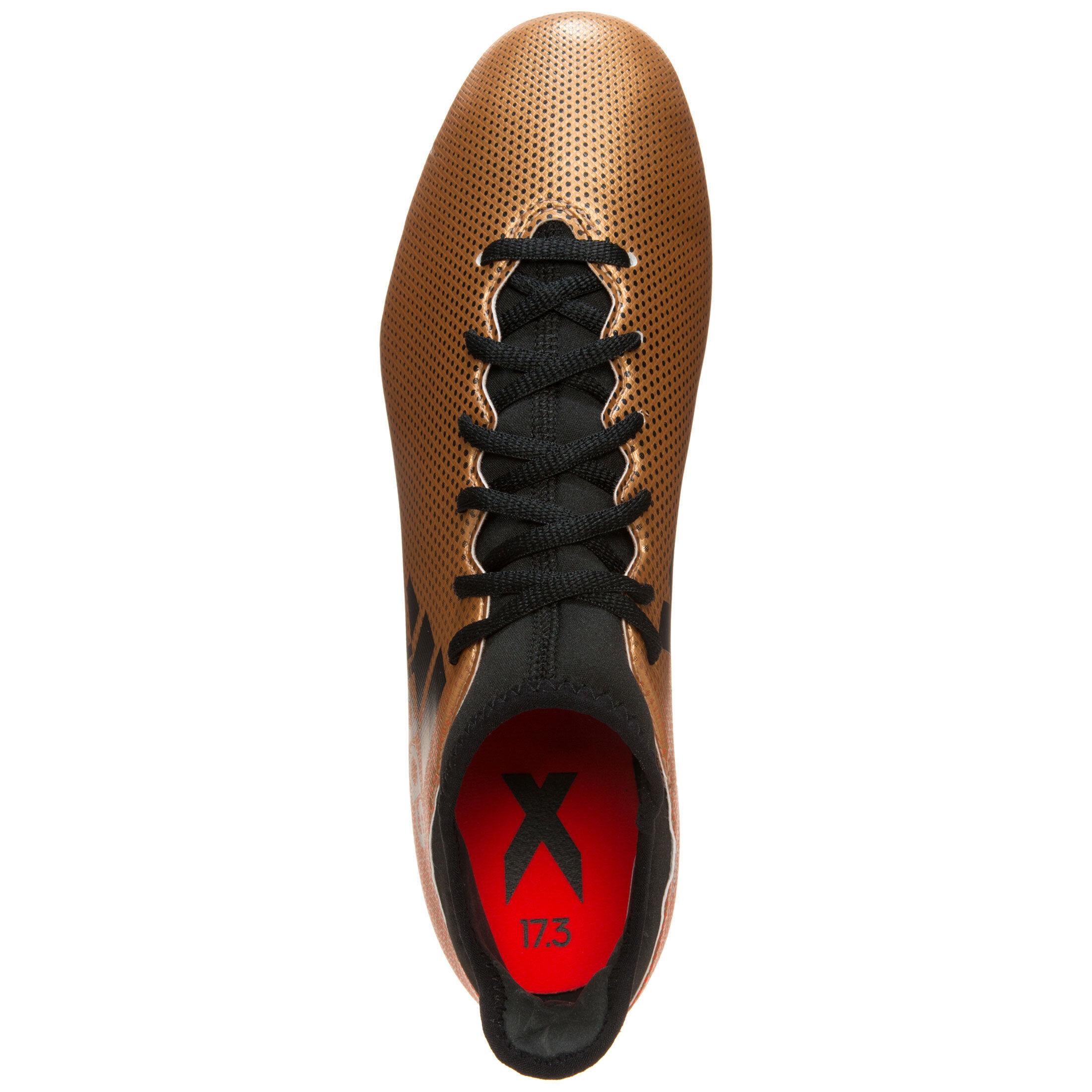 Herren Fußballschuhe adidas X 17.3 FG Gold Metallic