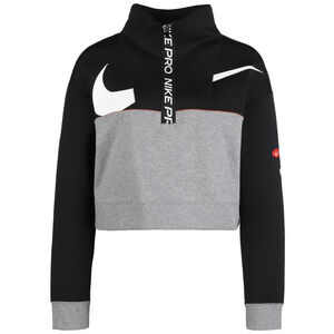 Get Fit Fleece Trainingspullover Damen, schwarz / grau, zoom bei OUTFITTER Online