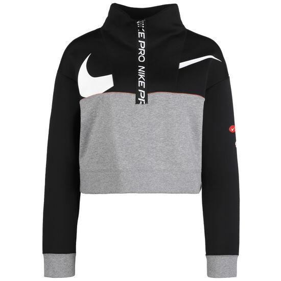 Get Fit Fleece Trainingspullover Damen, schwarz / grau, zoom bei OUTFITTER Online