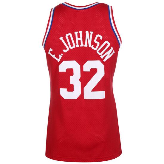 Classic Swingman All Star #32 Earvin Johnson Basketballtrikot Herren, rot / blau, zoom bei OUTFITTER Online