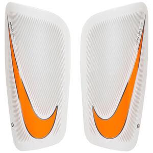 Mercurial Lite Schienbeinschoner, weiß / orange, zoom bei OUTFITTER Online