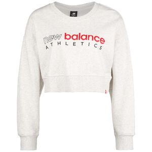 Essential Icon Crew Sweatshirt Damen, weiß / rot, zoom bei OUTFITTER Online
