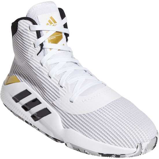 Pro Bounce 2019 Basketballschuh Herren, weiß / gold, zoom bei OUTFITTER Online
