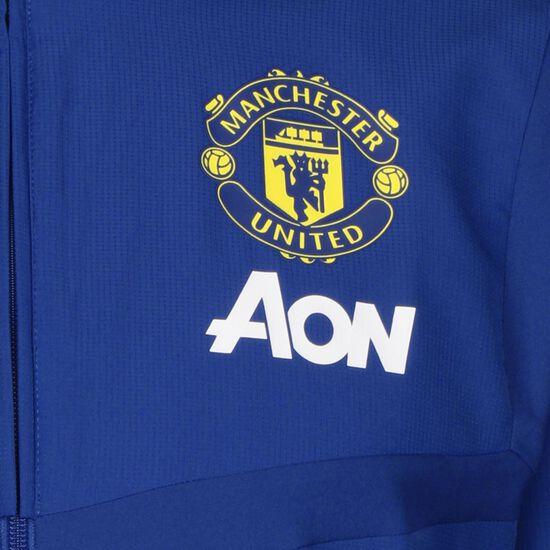 Manchester United Präsentationsjacke Herren, blau / schwarz, zoom bei OUTFITTER Online