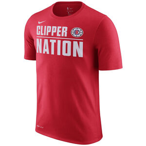 NBA Los Angeles Clippers T-Shirt Herren, rot / weiß, zoom bei OUTFITTER Online