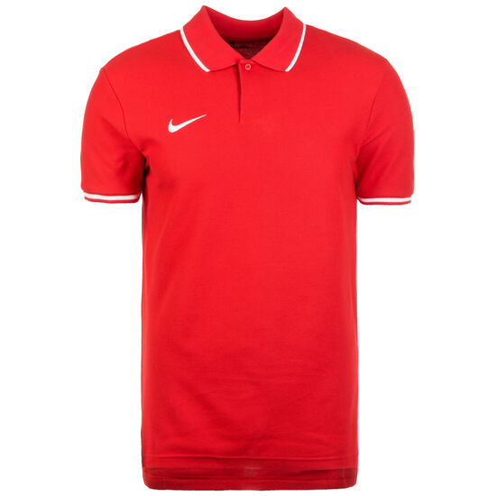 Polo TM Club19 SS Poloshirt Herren, rot / weiß, zoom bei OUTFITTER Online