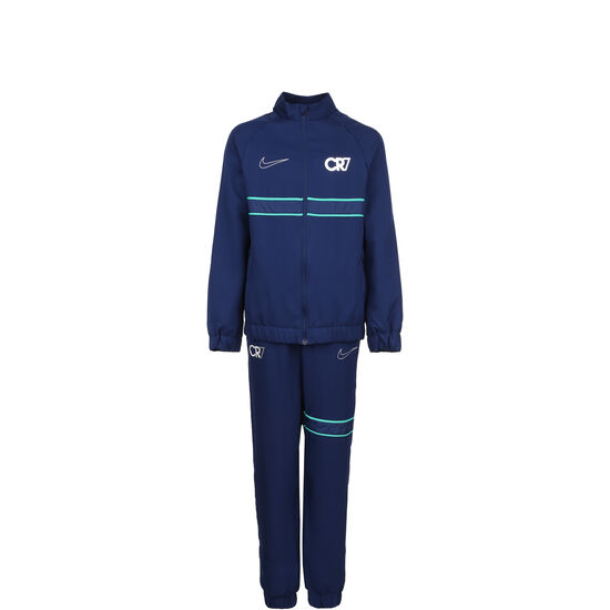 CR7 Dry Trainingsanzug Kinder, blau / silber, zoom bei OUTFITTER Online