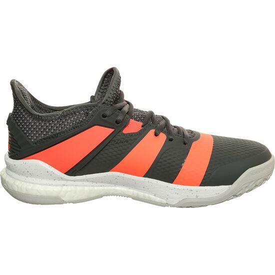 Stabil X Handballschuh Herren, grau / neonrot, zoom bei OUTFITTER Online