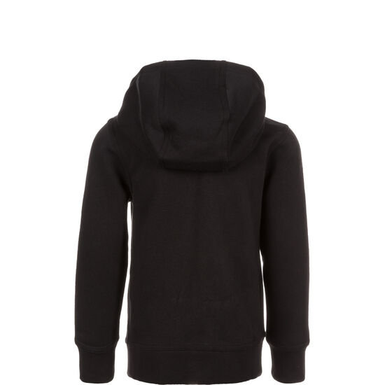 YA76 Brushed Fleece Trainingskapuzenjacke Kinder, schwarz, zoom bei OUTFITTER Online