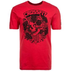 CrossFit X Mike Giant Skull Trainingsshirt Herren, Rot, zoom bei OUTFITTER Online