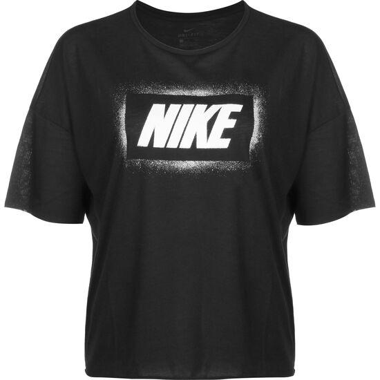 Dry Oversized Graphic Trainingsshirt Damen, schwarz / weiß, zoom bei OUTFITTER Online