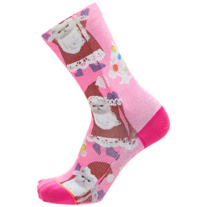 Foundation Santipaws Crew Socken Damen, pink / bunt, zoom bei OUTFITTER Online