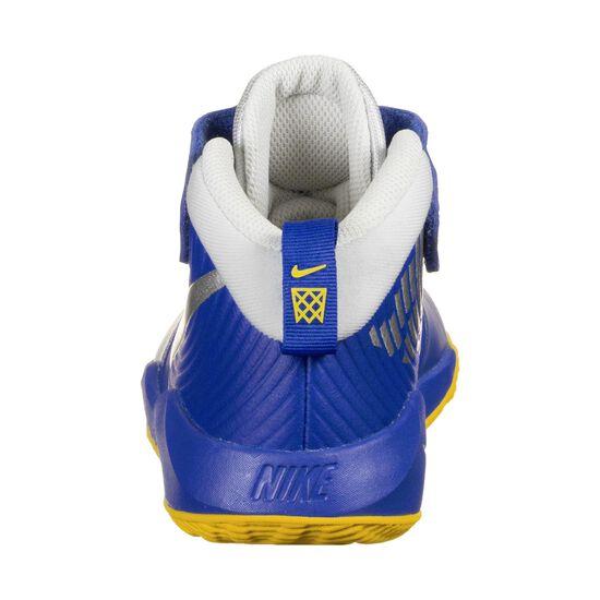 Team Hustle D 9 Basketballschuh Kinder, blau / hellgrau, zoom bei OUTFITTER Online