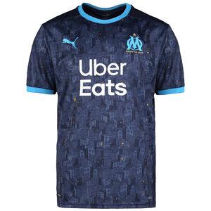 Olympique Marseille Trikot Away 2020/2021 Herren, dunkelblau / hellblau, zoom bei OUTFITTER Online