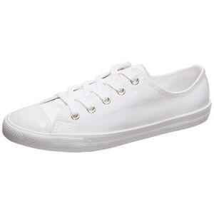 Chuck Taylor All Star Dainty OX Sneaker Damen, weiß / gold, zoom bei OUTFITTER Online