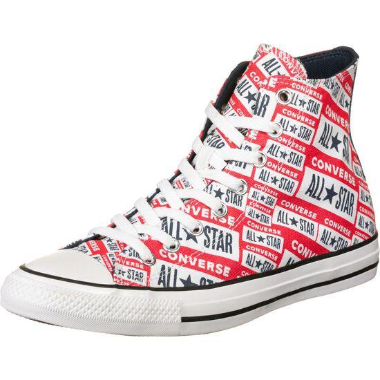 Chuck Taylor All Star Logo High Sneaker Herren, rot / weiß, zoom bei OUTFITTER Online