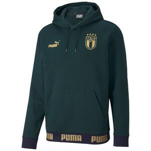 FIGC Italien FtblCulture Kapuzenpullover EM 2020 Herren, dunkelgrün / gold, zoom bei OUTFITTER Online
