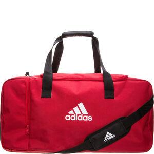 Tiro Duffel Medium Fußballtasche, rot / weiß, zoom bei OUTFITTER Online