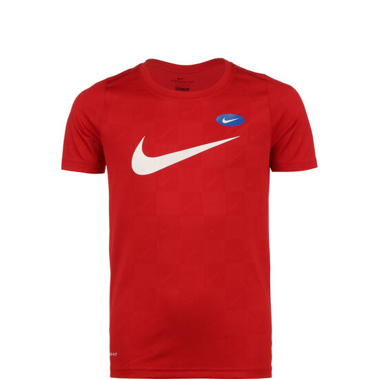 Dry Soccer AOP T-Shirt Kinder, rot / weiß, zoom bei OUTFITTER Online