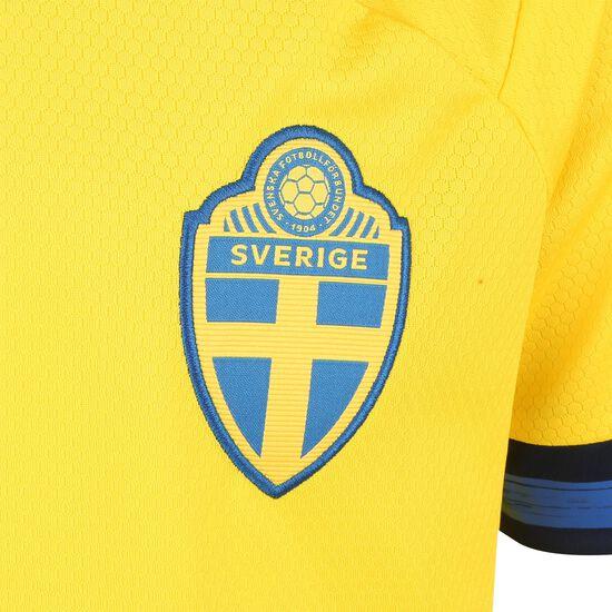 Schweden Trikot Home EM 2020 Kinder, gelb / dunkelblau, zoom bei OUTFITTER Online