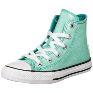 Chuck Taylor All Star Coated Glitter High Sneaker Kinder, petrol / weiß, zoom bei OUTFITTER Online