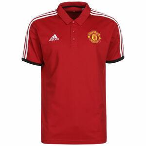 Manchester United 3-Streifen Poloshirt Herren, rot / weiß, zoom bei OUTFITTER Online